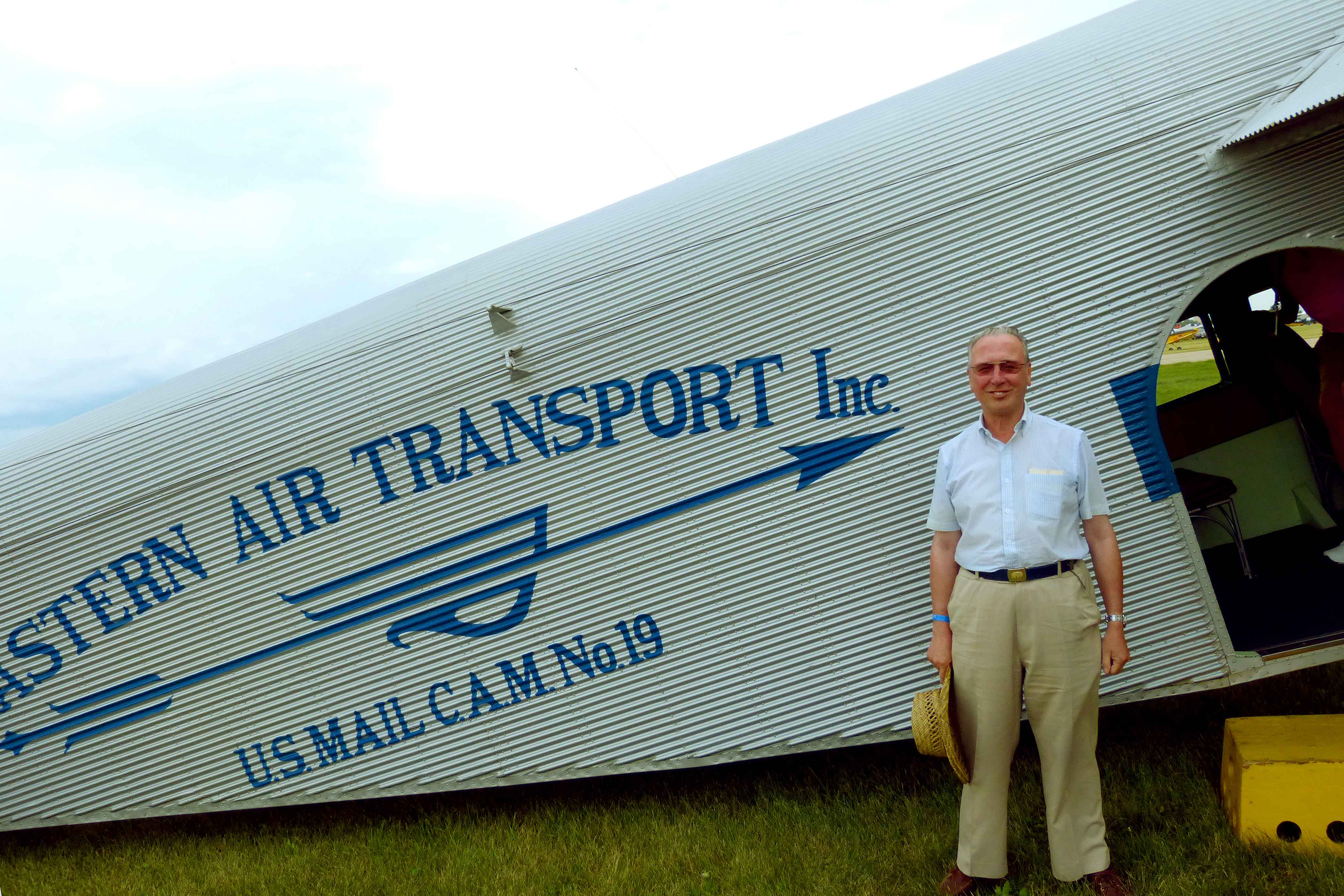 After flying in the Experimental Aircraft Association's Ford 4-AT-E Trimotor at AirVenture 2013 Oshkosh